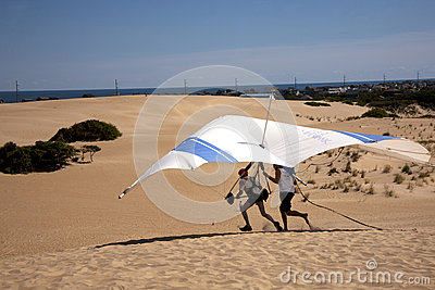 Hang Gliding Take Offs Editorial Photography