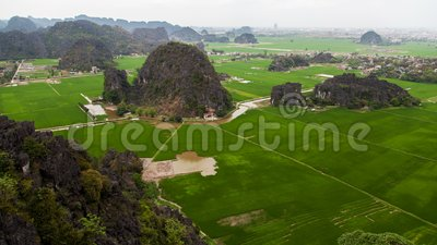 Hang Mua Peak-landschap in Ninh Binh, Vietnam timelapse stock video