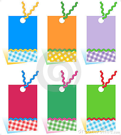 Hang tags design elements