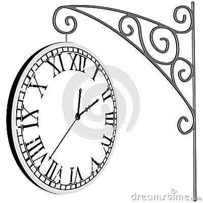 Hanged clock