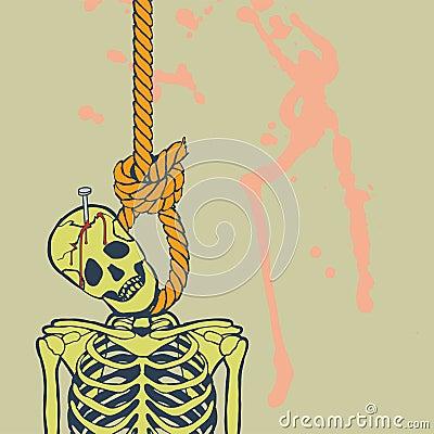 Hanged skeleton