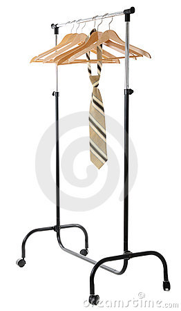 Hanger for clothes with tie