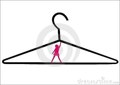 Hanger and woman