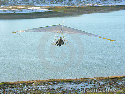 Hangglider and river
