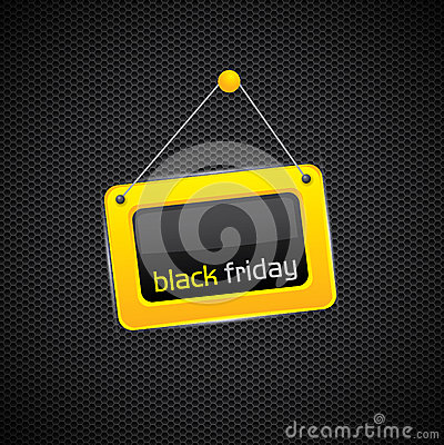Hanging Black Friday sign