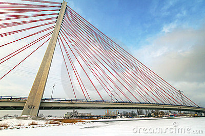 Hanging bridge in Gdansk