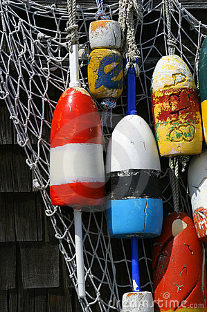 Free Hanging Buoys In Rockport, Massachusetts Royalty Free Stock Photo - 211535