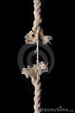 Free Hanging By A Thread Stock Photography - 4360162