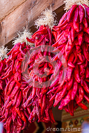 Free Hanging Chili Ristras Stock Images - 47002614