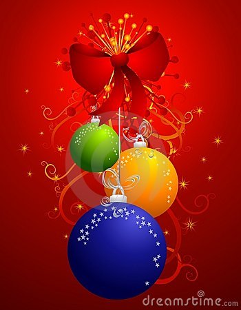Hanging Colorful Christmas Ornaments 2