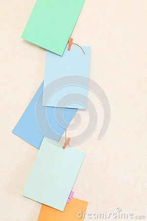 Hanging colorful paper