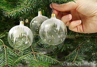 Hanging glass ornament