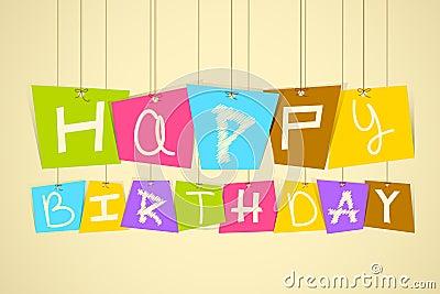 Hanging Happy Birthday