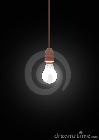 Free Hanging Lightbulb Stock Photo - 2749460