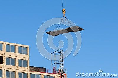 Hanging load building site