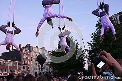 Hanging men Editorial Stock Photo