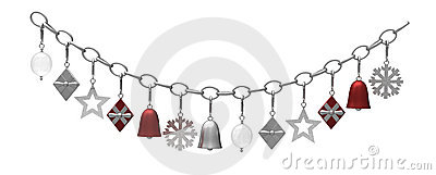 Hanging metal christmas decoration