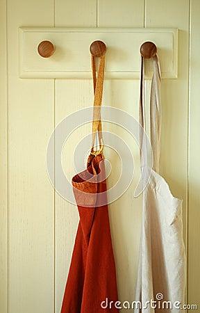 Hanging pair of Aprons