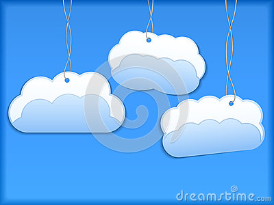 Hanging paper clouds