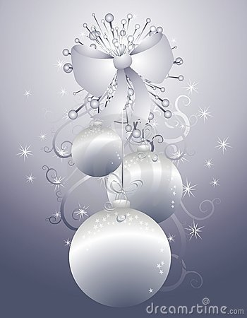 Hanging Silver Christmas Ornaments 2