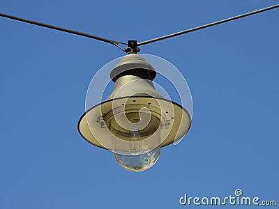 Hanging street lamp