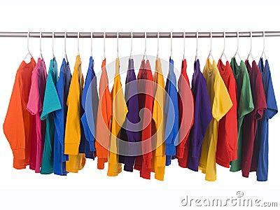 Hanging Tee shirts