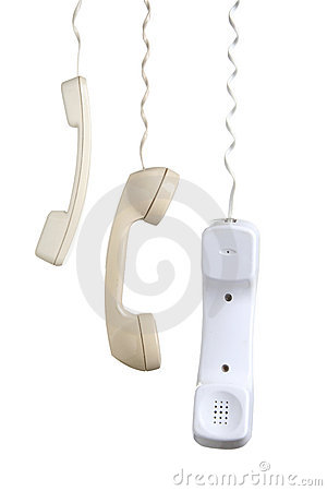 Hanging Telephone Receivers
