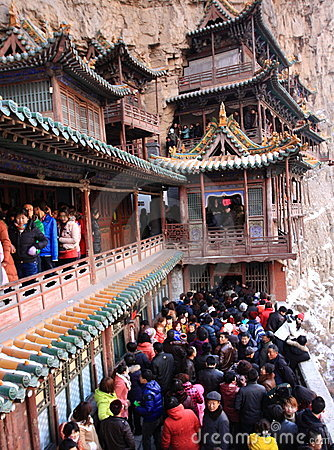 The Hanging Temple Editorial Stock Photo