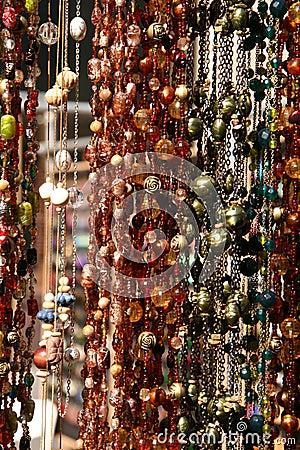 Hanging Textured Necklaces