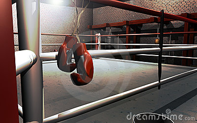 Hanging Up Boxing Gloves Royalty Free Stock Images Image