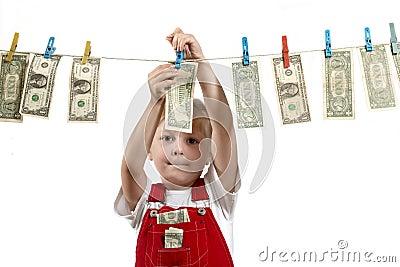 Hanging up dollars