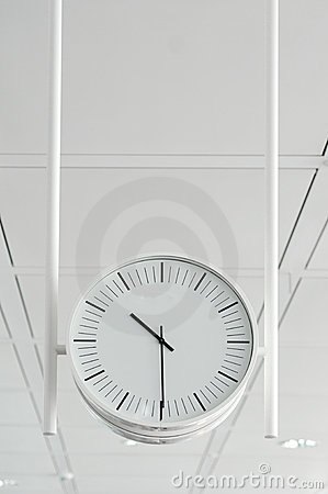 Hanging white clock