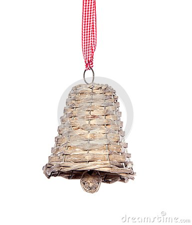 A  hanging wicker jingle bell