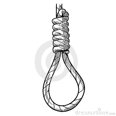 Hangman s noose drawing