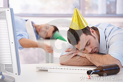 Hangover after office party