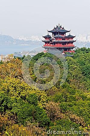 Hangzhou Chenghuang pavilion scenery