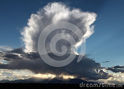 Hanksville Area, Wayne Co, Ut - 2016-09-30 - Burr Point -14 Storm Building Over Henry Mts Free Public Domain Cc0 Image