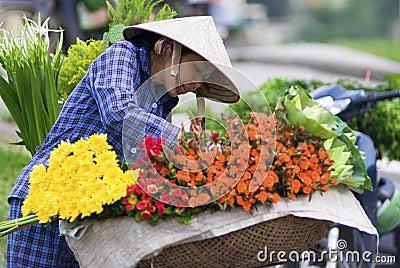 Hanoi Flower Market Editorial Stock Photo