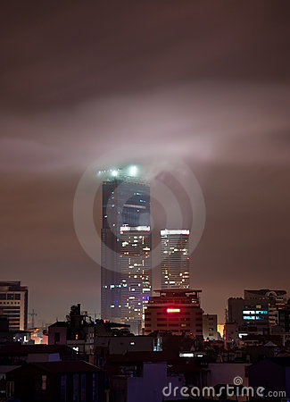 Hanoi Landmark Tower at Night