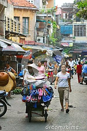 Hanoi street Editorial Image
