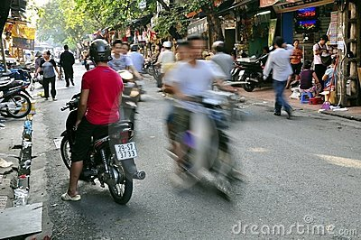 Hanoi Street Scene Editorial Photography
