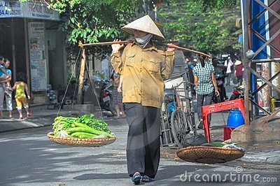 Hanoi Street Vendor Editorial Photo