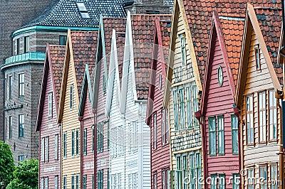 Hanseatic huizen Redactionele Stock Afbeelding