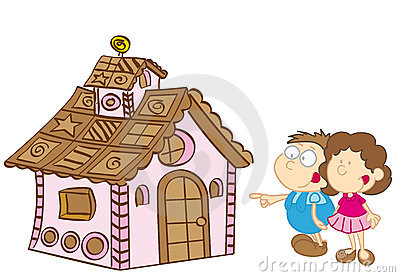 Hansel and gretel stock vector image of drawing house for Hansel and gretel house plans