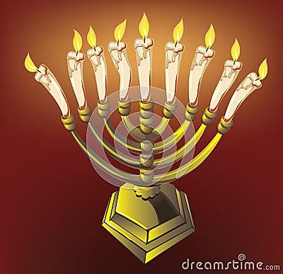 Free Hanuka Candle Stock Photography - 16790552