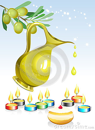 Free Hanuka Holiday Background Royalty Free Stock Photography - 27384897