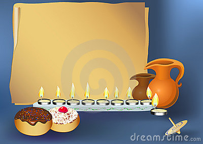 hanukkah background with candles