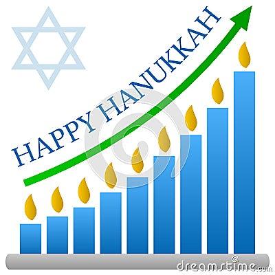 Hanukkah Bar Chart Concept
