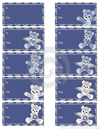 Hanukkah Bear Gift Tags