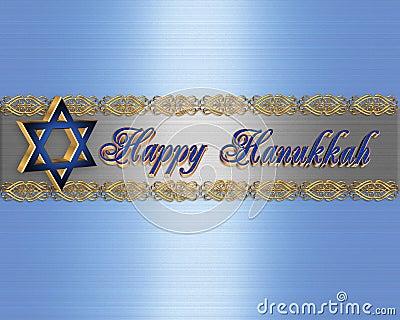 Hanukkah border